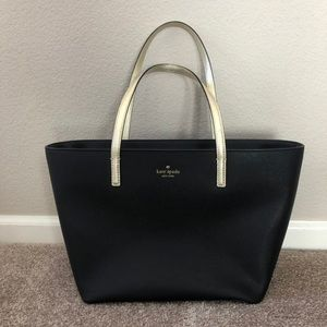 Kate Spade Crosshatched leather tote bag